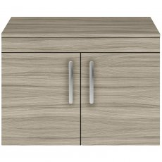 Premier Athena Wall Hung 2-Door Vanity Unit and Worktop 800mm Wide - Driftwood