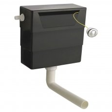 Premier Front and Top Access Concealed Toilet Cistern, Dual Flush Button, Black