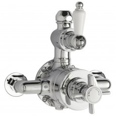 Nuie Beaumont Exposed Shower Valve Dual Handle - Chrome
