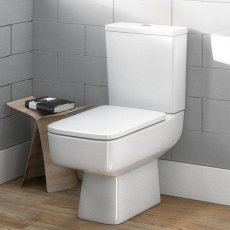 Premier Bliss Close Coupled Toilet WC Push Button Cistern - Excluding Seat