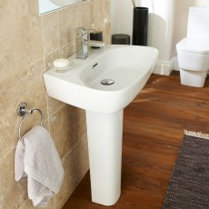 Premier Cambria Basin and Full Pedestal, 600mm Wide, 1 Tap Hole