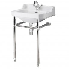 Nuie Carlton Basin with Washstand 560mm Wide - 1 Tap Hole
