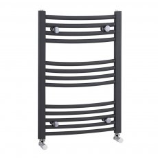 Premier Curved Heated Towel Rail 700mm H x 500mm W Anthracite