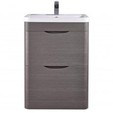 Nuie Eclipse Floor Standing Vanity Unit with Basin 1 600mm Wide - Midnight Grey
