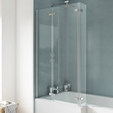 Nuie Ella Bath Screen with Hinged End Panel 1400mm High