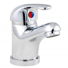Nuie Eon D-Type Mono Basin Mixer Tap with Push Button Waste - Chrome