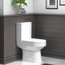 Premier Harmony Close Coupled Toilet WC Push Button Cistern - Excluding Seat