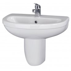 Premier Ivo Basin and Semi Pedestal 555mm Wide - 1 Tap Hole