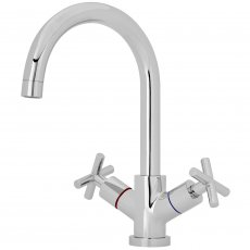 Nuie Kitchen Sink Mixer Tap Dual Crosshead Handle - Chrome