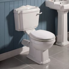 Nuie Legend Close Coupled Toilet WC Lever Cistern - Standard Seat
