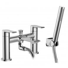 Premier Limit Bath Shower Mixer Tap Deck Mounted Dual Handle - Chrome