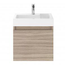 Premier Merit Wall Hung 1-Door Vanity Unit with L-Shaped Basin 500mm - Driftwood