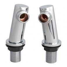 Premier Minimalist Deck Mounted Tap Legs, Pair, Chrome
