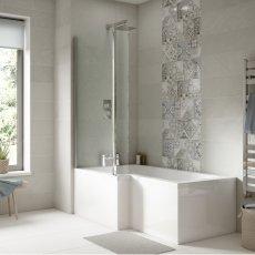 Premier Acrylic Square Bath End Panel 500mm H x 700mm W - White