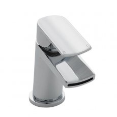 Premier Mona Mono Basin Mixer Tap Single Handle with Push Button Waste - Chrome