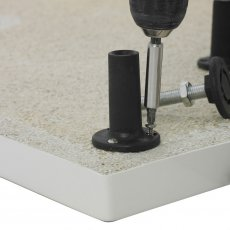 Nuie Leg Set and Plinth Kit for Offset Quadrant 1200mm x 900mm - White