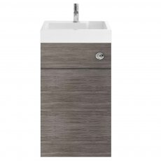 Nuie Athena Toilet and Basin Combination Unit 500mm Wide - Brown Grey Avola