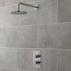 Nuie Quest Rectangular Concealed Shower Mixer with Fixed Head - Chrome
