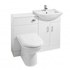 Nuie Saturn Combination Furniture Pack with Square Basin and WC Unit - 1 Tap Hole