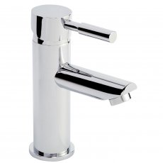 Nuie Series 2 Mono Basin Mixer Tap with Push Button Waste Single Handle - Chrome