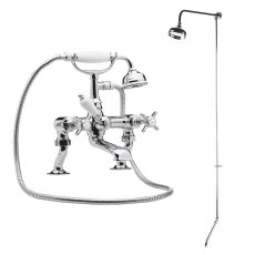 Nuie Traditional 3/4 Bath Shower Mixer with Fixed Head + Tap Spout