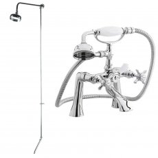Premier Traditional 1/2 Bath Shower Mixer with Fixed Head + Tap Spout