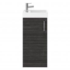 Nuie Vault Floor Standing 1-Door Vanity Unit with Basin Hacienda Black - 400mm Wide