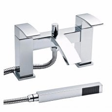Premier Vibe Bath Shower Mixer Tap Pillar Mounted - Chrome