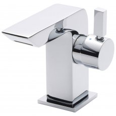 Nuie Waterfall Mini Mono Basin Mixer Tap Single Handle with Waste - Chrome