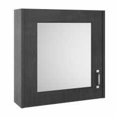 Premier York 1-Door Mirrored Bathroom Cabinet 600mm H x 600mm W - Royal Grey