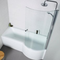 Prestige Adapt P-Shaped Shower Bath 1700mm x 700mm/850mm Right Handed