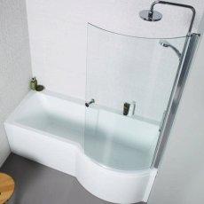 Prestige Adapt P Shaped Shower Bath 1500mm x 700/850mm Right Hand