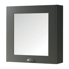 Prestige Astley Mirror Cabinet 600mm Wide - Matt Grey