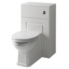 Prestige Astley Traditional Back to Wall Toilet Pan with WC Unit 500mm - Soft Close Seat
