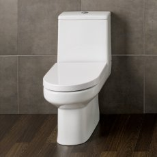Prestige Bijou Close Coupled Toilet with Push Button Cistern - Premium Soft Close Seat