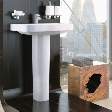 Prestige Coral Basin with Full Pedestal 550mm Wide 1 Tap Hole