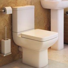 Prestige Cuba Close Coupled Toilet Push Button Cistern Soft Close Seat