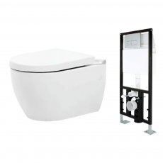 Prestige Metro Wall Hung Toilet and Frame with Soft Close Seat