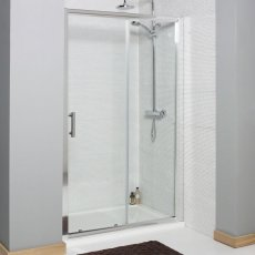 Prestige Estuary Sliding Shower Door 1100mm Wide - 6mm Glass