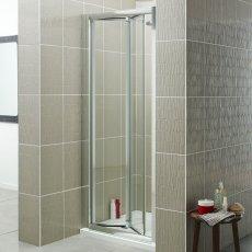 Prestige Estuary Bi-Fold Shower Door 900mm Wide - 4mm Glass