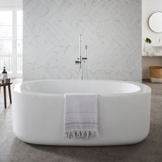 Prestige Genoa Modern Freestanding Bath 1700mm x 800mm - Acrylic