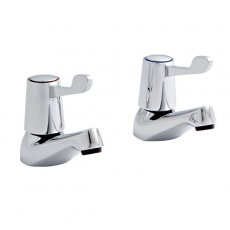 Prestige Memphis 1/2 Basin Taps Pair Chrome