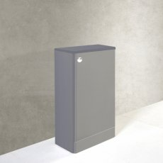 Prestige Options WC Unit with Concealed Cistern 495mm Wide Basalt Grey