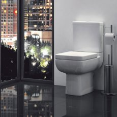Prestige Options Close Coupled Toilet WC Dual Flush Cistern - Premium Soft Close Seat