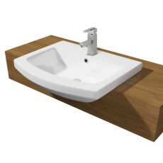 Prestige Trim Semi Recessed Basin 550mm Wide 1 Tap Hole