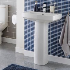 Prestige Vivanta Basin with Full Pedestal 460mm Wide 1 Tap Hole