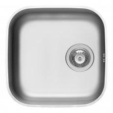 Pyramis Iris 1.0 Bowl Undermount Kitchen Sink with Waste Kit 423mm L x 423mm W - Stainless Steel
