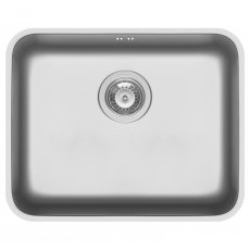 Pyramis Relia 1.0 Bowl Undermount Kitchen Sink with Waste Kit 524mm L x 424mm W - Stainless Steel