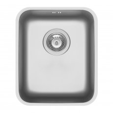 Pyramis Relia 1.0 Bowl Undermount Kitchen Sink with Waste Kit 355mm L x 424mm W - Stainless Steel