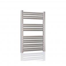 Radox Premier XL Straight Heated Towel Rail 800mm H x 600mm W - Stainless Steel